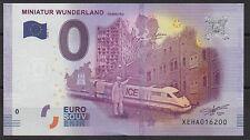 Null € 0-Euro-Schein Souvenir Souvenirschein Miniatur Wunderland 2016-1 Banknote