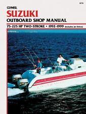 1992 1999 Suzuki 75-225 HP 2-stroke Outboard Jet Drive Clymer Repair Manual B779