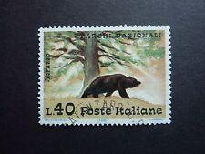 ITALY 40 lira 'Bear' stamp used THEMATICS wildlife