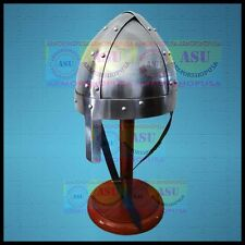 Medieval-Armour-Norman-Nasal-Viking-Helmet-Reenactment-Role-Play-Free Stand