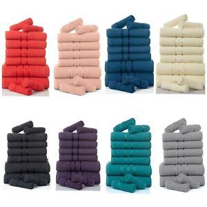Luxury Soft 10 Pieces 100% Cotton Towel Bale Set Face Hand Bath Bathroom Towels
