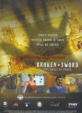 Broken Sword The Angel Of Death 2006 Magazine Advert #4695
