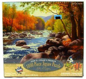 John D. Cogan's Premier 1000 Piece Jigsaw Puzzle Autumn Solitude 26.625 x 19.25