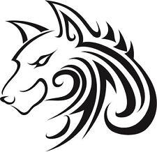 WOLF TRIBAL HEAD , ANIMALS , CAR DECAL STICKER