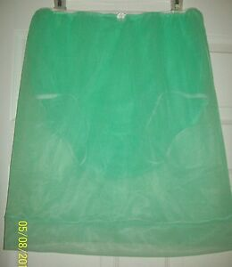 """GREEN 2 LAYER Sheer Nylon SLIP PANTY COMBO Men & Women 27-42 Waist Length 22"""""""