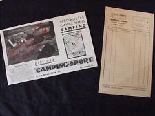 Brochure Camping-Sport  Spécialistes Canoës pliants Art-Déco   années 30