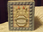 MISSING YOU /  SYMPATHY /   NEW  HANDMADE - PLASTIC CANVAS TISSUE BOX COVER