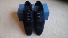 Barker Grant Navy Blue Suede Shoes Size 12 New
