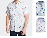 NWT Men's Nautica Classic Fit Button Front Poplin Short Sleeve Shirt