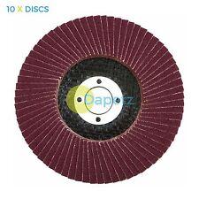 "10 x Flap Sanding Discs 115mm 40 Grit Aluminium Oxide 4.5"" Angle Grinder"