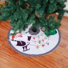 35.4 inch / 90cm Diameter Christmas Tree Skirt Cloth Base Floor Mat Decoration
