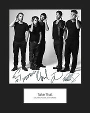 TAKE THAT #4 10x8 SIGNED Mounted Photo Print - FREE DELIVERY