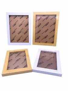 Home Photo frame 5''x3.5'' inch 2 Wooden & 2 White Picture Frame Total 4 PCS