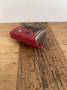 Vintage Motorola Flex Pager Beeper Red with Belt Clip Tested Works (T-4)