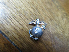 Eag Eagle Anchor Globe Pin (t) Small Wwii Sterling Silver Gold Plate Usmc