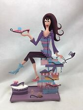 Decorative Metal Shoe Girl Earring holder Jewelry Organizer