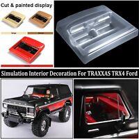DIY Simulation Car Interior Decoration Parts For 1/10 Traxxas TRX4 Ford Bronco
