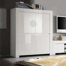 Mobile alto 4 ante sportelli moderno Amalfi bianco laccato lucido sala soggiorno
