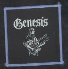 Genesis Rutherford vintage 1970s SEW-ON PATCH - BLUE version - POSTFREE to UK