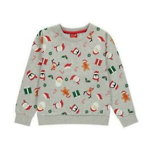 STAR Christmas Fleece Jumper Ladies Printed Santa OTH Sweatshirt UK Size 12 BNWT