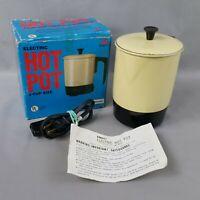 Vintage Almond Abbott Electric Hot Pot HotPot Model HP-400 Works Great Aluminum