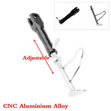 1Pcs Adjustable Black CNC Foot Side Stand Support Leg Kickstand For Motorcycle
