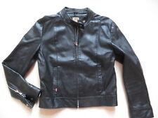 Levi's Biker Jacke, Lederjacke, Gr. M, Schwarz ! Black Leather, Echtes Leder !