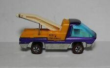 Hot Wheels REDLINE 1970 PURPLE TOW TRUCK W/ WHITE INTERIOR NEAR MINT CONDITION