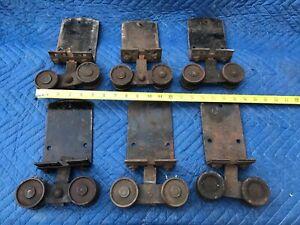 Antique Barn Door Rollers SET OF 6 MATCHING.