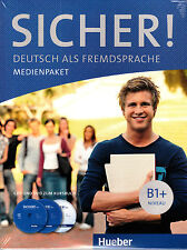 HUEBER Sicher! B1+ MEDIENPAKET CD's & DVD zum Kursbuch @NEW@ German Language