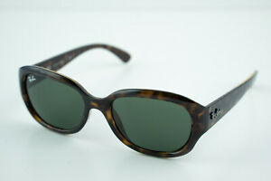 Excellent! RB 4198 RAY BAN 710 55-18 3N Tortoise Brown/Grey Oval Sunglasses
