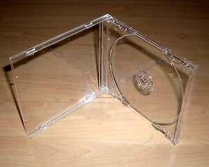 50 CD Hüllen durchsichtig transparent Case Cases Hülle Maxi Breite 10mm 1cm Neu