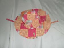 NWT Gymboree Girls POPSICLE PARTY Sun Hat Cap 12 18 24 Madras Patchwork Baby NEW