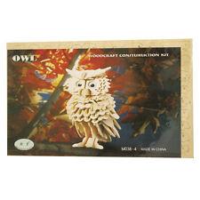 3D Wood Construction Puzzle - Owl