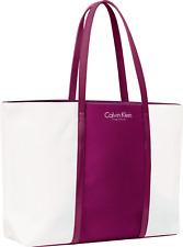 Calvin Klein Purple White Tote Shopping Bag
