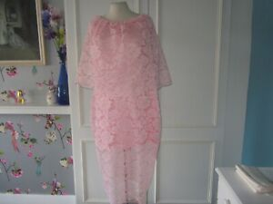 Pink lace bridesmaid/formal dress 46 chest 44 waist