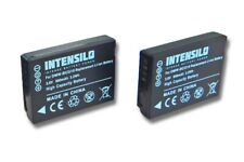 2x INTENSILO Premium AKKU 890mAh für PANASONIC Lumix DMC-TZ9 / DMC-TZ10 / DMC-TZ