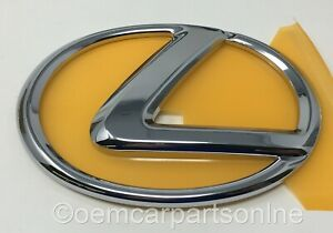 Genuine LEXUS 2006-2015 IS250 IS350 CHROME Front Grille Emblem 90975-02080 Oem