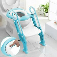 Kids Potty Training Seat with Step Stool Ladder Toilet Chair Child Toddler