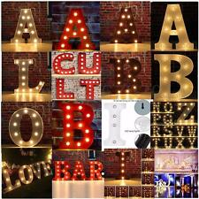 LED Marquee Letter Lights Vintage Alphabet Light Up Sign 12'' & 9'' Christmas