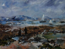 Fine French impressionist landscape painting, Marked, fine art