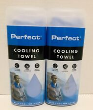 """NEW Perfect Fitness Blue Cooling Towel Sports 11""""x29"""" FAST SHIPPING!"""