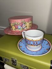 Mary Englebreit Teacup And Saucer. Wont You Be My Honey and Hat Box