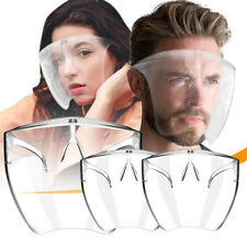 3 Pack Face Shield Protective Face Cover Transparent Glasses Visor AntiFog Clear