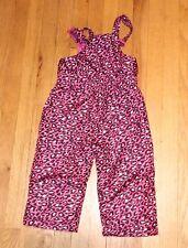 Kids Toddler Girls 3T Snowsuit Bib Overalls Snow Bibs Pants Pink leopard