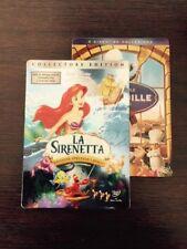Dvd Disney La Sirenettaed. Spec. 2 Dvd Piu' Ratatouille In Steelbook