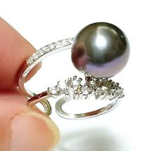 Charming Natural Colors Edison Round 10 - 10.5mm Cultured Pearl Ring Size 6 - 7