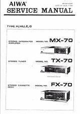 Aiwa Service Manual für MX-70 TX-70 FX-70      .
