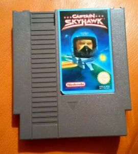 RARE NINTENDO NES GAME CAPTAIN SKYHAWK 1985 TESTED NINTENDO ENTERTAINMENT SYSTEM
