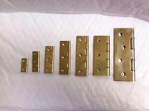 2 x Heavy Duty Solid Brass Butt Hinges 25,38,50,63,75 & 100mm DSW Screws Include